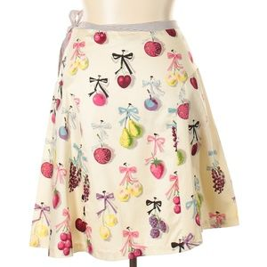ANTHROPOLOGIE ELEVENSES FRUIT WHIMSICAL SKIRT